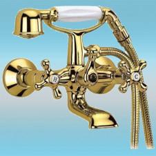 Смеситель для ванны FRAP G3263-6 однорычажный, короткий излив 10, позолоченный