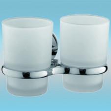 Держатель для 2-х стаканов FRAP F3608 настенный, стекло/хром