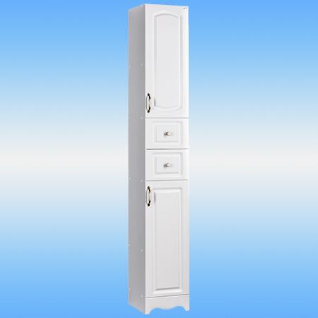 Пенал напольный СТК ЛАУРА белый 2 двери, 2 ящика 300х1953х316