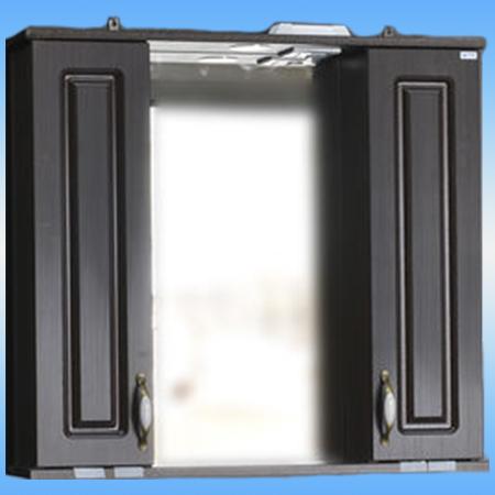 Зеркало-шкаф СТК ЛАУРА-80 венге, 2 двери, с подсветкой 800х760х165