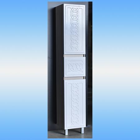 Пенал напольный СТК АЛЬБА белый, 2 двери, 1 ящик 350х1850х340