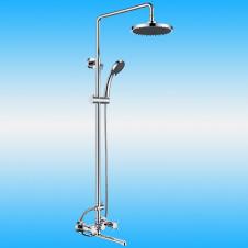Душевая стойка KAISER CUATRO 58182 со смесителем, тропическим душем, хром