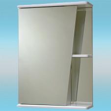 Зеркальный шкаф САНТА АКЦЕНТ 50 белый, 1 шкаф слева, 2 полки 510х700х165