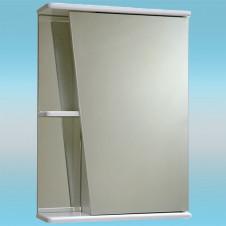 Зеркальный шкаф САНТА АКЦЕНТ 50 белый, 1 шкаф справа, 2 полки 510х700х165