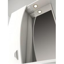 Шкаф зеркало VIGO FAINA-55 550x150x700 белый, левый