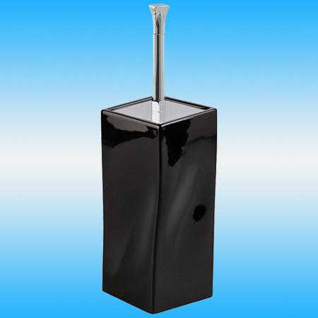 Ершик для унитаза STILHAUS PRISMA 796 напольный, керамика, черный/хром