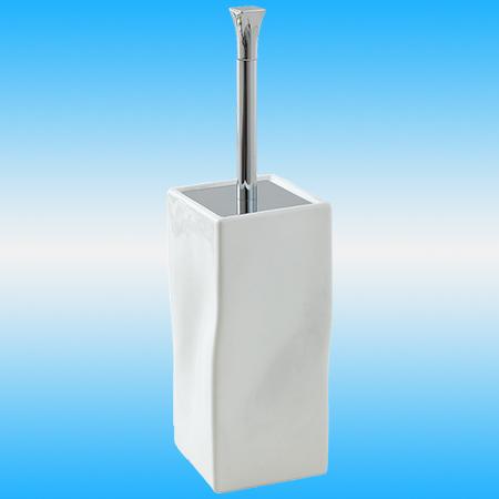 Ершик для унитаза STILHAUS PRISMA 796 напольный, керамика, белый/хром