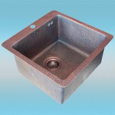Мойка ZorG COPPER ZVIKOV Antigue Copper ZC 5151 AC 510x510мм, 1чаша