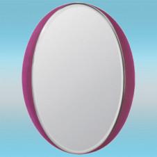 Зеркало LEDEME L617 овальное с розовыми краями 800х600