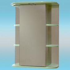 Зеркальный шкаф САНТА ГЕРДА 55 фисташковый, 1 светильник, 1 дверца правая, 4 полки 550х730х240