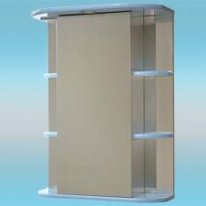 Зеркальный шкаф САНТА ГЕРДА 55 голубой, 1 светильник, 1 дверца правая, 4 полки 550х730х240