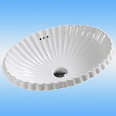 Умывальник накладной MELANA LT-1058 фигурный, белый 620x390x165