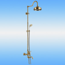 Душевая стойка AKSY BAGNO Ps701-2002-2004 Bronze со смесителем, поворотный излив, бронза