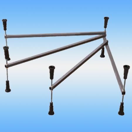 Каркас для поддона душевого стального, полукруглый 900x900x160 белый