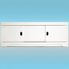 Экран фронтальный под ванну ALAVANN КУПЕ МДФ 1600 STILL белый 1570х523х58, 3 двери