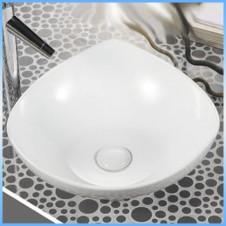 Умывальник накладной MELANA MLN-4032 фигурный, белый 385x385x140