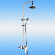 Душевая стойка LEDEME L2485 со смесителем и тропическим душем