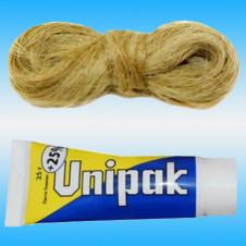 Комплект уплотнительный UNIPAK №1 для резьбовых соединенй (Паста 25гр+Лен 14гр)