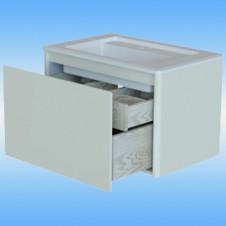 Пенал-шкаф Я-МЕБЕЛЬ Бабочка 30 DB2 белый, 2 дверцы, 2 ящика 300х2020х329