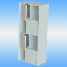 Зеркало-шкаф Я-МЕБЕЛЬ Бергамо 60С правый, белый, 1 дверца, 3 полки, 1 светильник 615х720х230