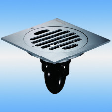 Трап душевой с решеткой MAGdrain C01Q5-N(3.0) 100x100, выпуск 50, сухой затвор, никель матовый