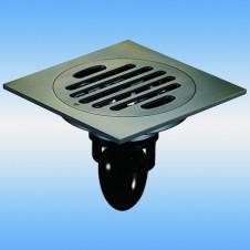 Трап душевой с решеткой MAGdrain C01Q5-Q(3.0) 100x100, выпуск 40мм, сухой затвор, бронза