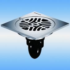 Трап душевой с решеткой MAGdrain C03Q5-G 100x100, выпуск 50мм, сухой затвор, хром