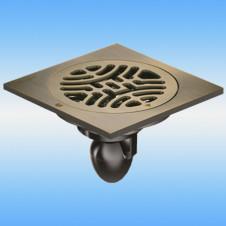 Трап душевой с решеткой MAGdrain C03Q5-Q 100x100, выпуск 50мм, сухой затвор, бронза