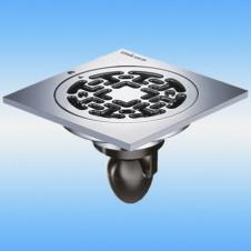 Трап душевой с решеткой MAGdrain C06Q5-G 100x100, выпуск 50мм, сухой затвор, хром