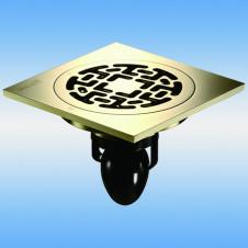 Трап душевой с решеткой MAGdrain C06Q5-Z 100x100, выпуск 40мм, сухой затвор, nature