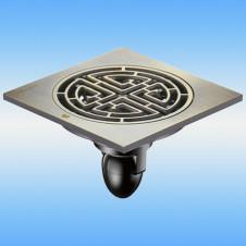 Трап душевой с решеткой MAGdrain C07Q5-Q 100x100, выпуск 40мм, сухой затвор, бронза