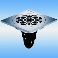 Трап душевой с решеткой MAGdrain C09Q5-G 100x100, выпуск 40мм, сухой затвор, хром